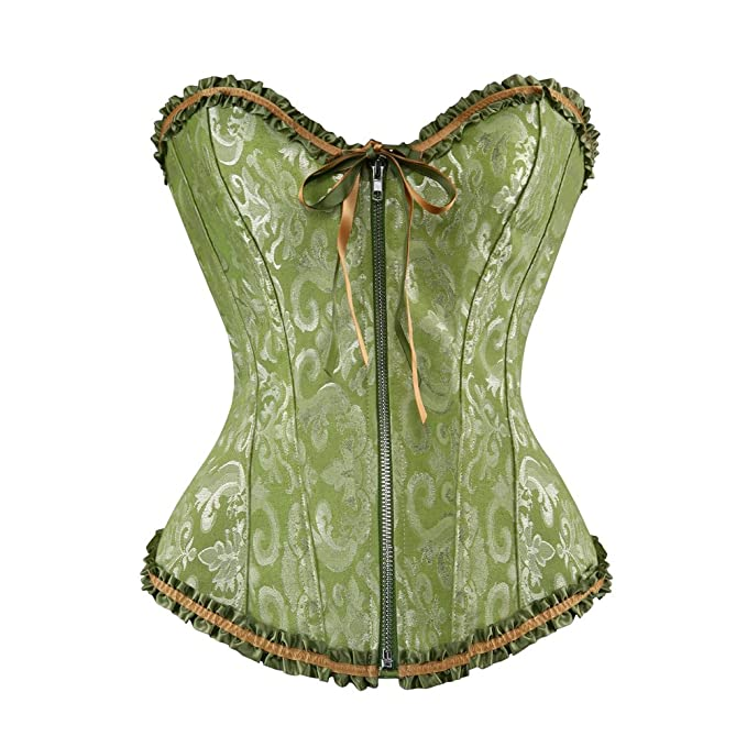 S de Girl® Victoria Style Palace mujer Corpiño Corsé, color verde: Amazon.es: Ropa y accesorios