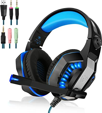 Beexcellent 3.5mm Gaming Headset para PlayStation 4, Xbox One, PC ...