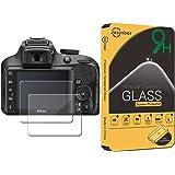 Jasinber [2-Pack] Mica de Vidrio Cristal Templado para Cámara Digital réflex Nikon D3400 D3300 D3200 D3100