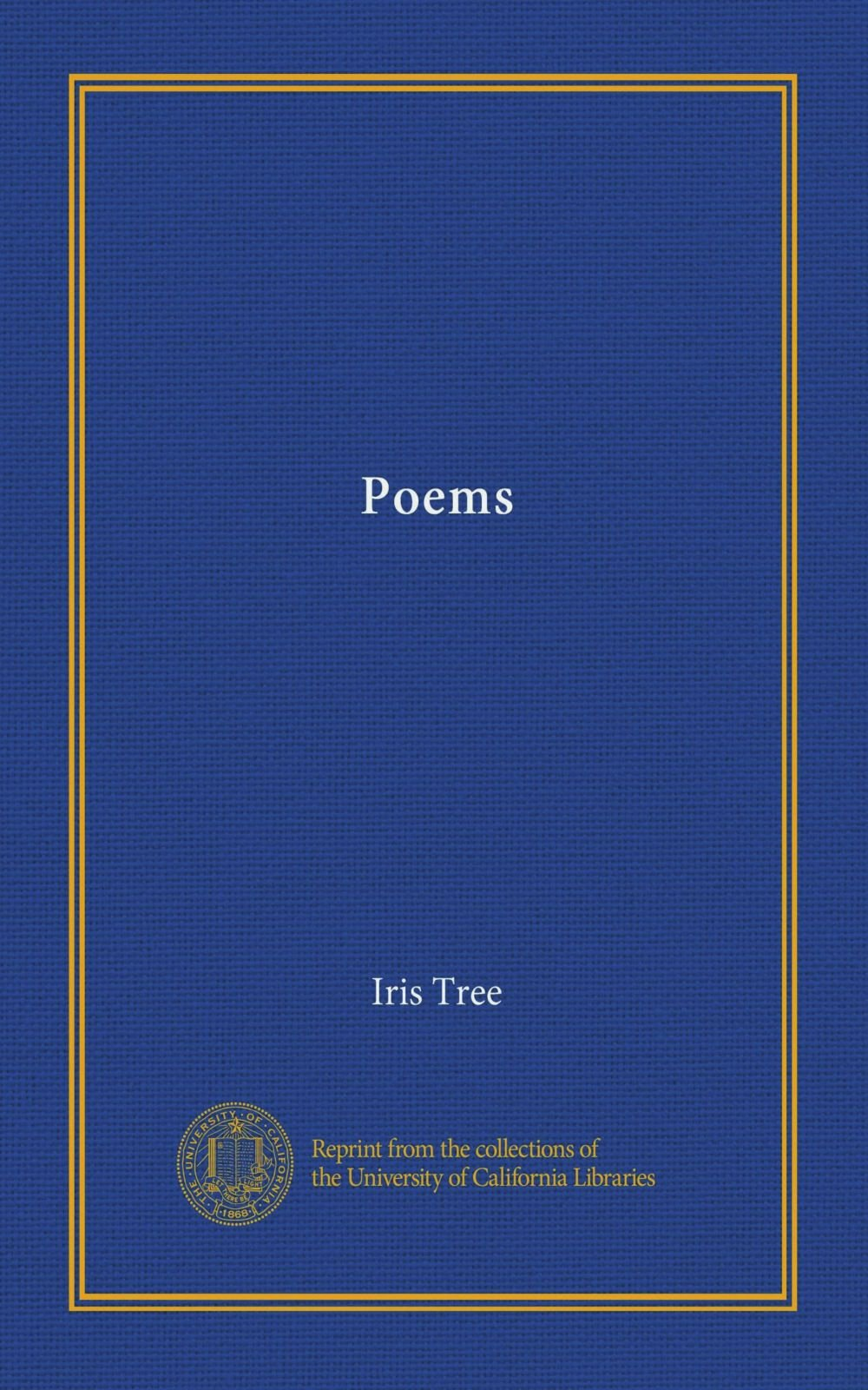 Poems Iris Tree Amazoncom Books