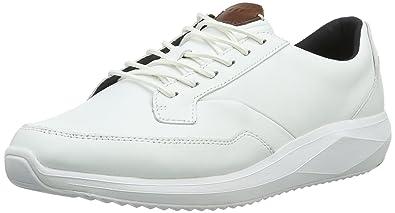 Herren Rily Sh Lea Low-Top, Weiß (White), 42 EU Boxfresh