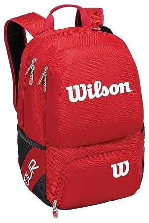 WILSON Tour V Backpack Medium Rd Mochila, Unisex Adulto, Rojo (Red), 36x24x45 cm (W x H x L): Amazon.es: Zapatos y complementos