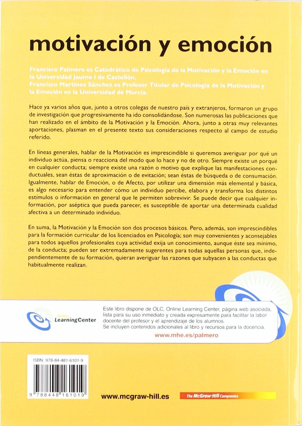 Psicologia De La Motivacion Y La Emocion Palmero Epub Download