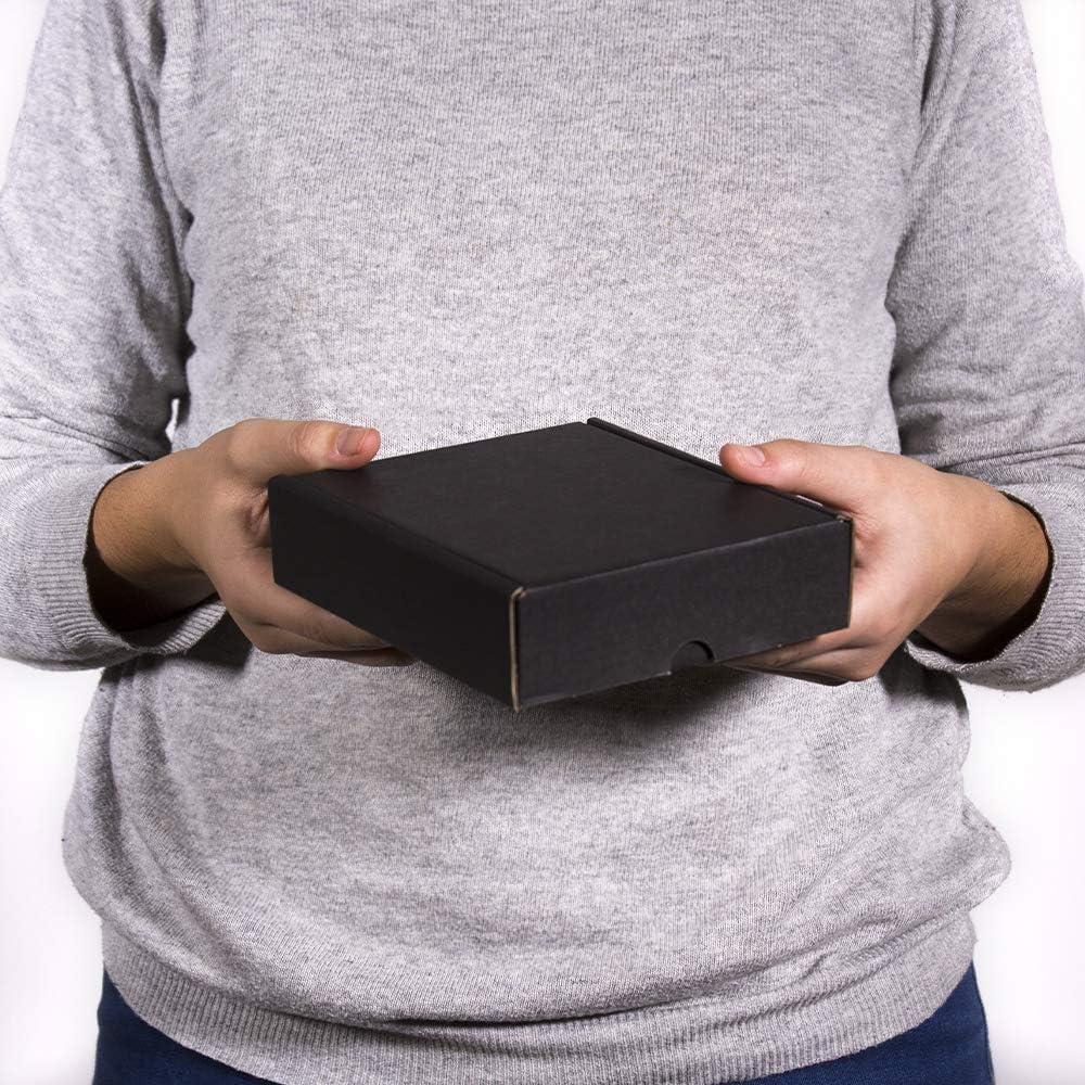 Confezione regalo ideale 41,7 x 32,4 x 9,8 cm Kartox Scatola di cartone nera per spedizione postale Scatola di cartone resistente Taglia XL 20 unit/à