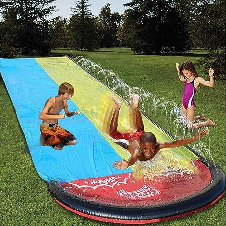 LiKin Túnel de Agua Tobogán Juegos Jardin,Hinchables Tobogan para Piscina para Familias Amigos y Fiestas La Piscina (Size : 480x140cm): Amazon.es: Deportes y aire libre