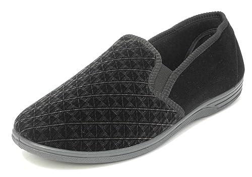 Zedzzz - Zapatillas de estar por casa, para hombre, cálidas, cómodas, terciopelo