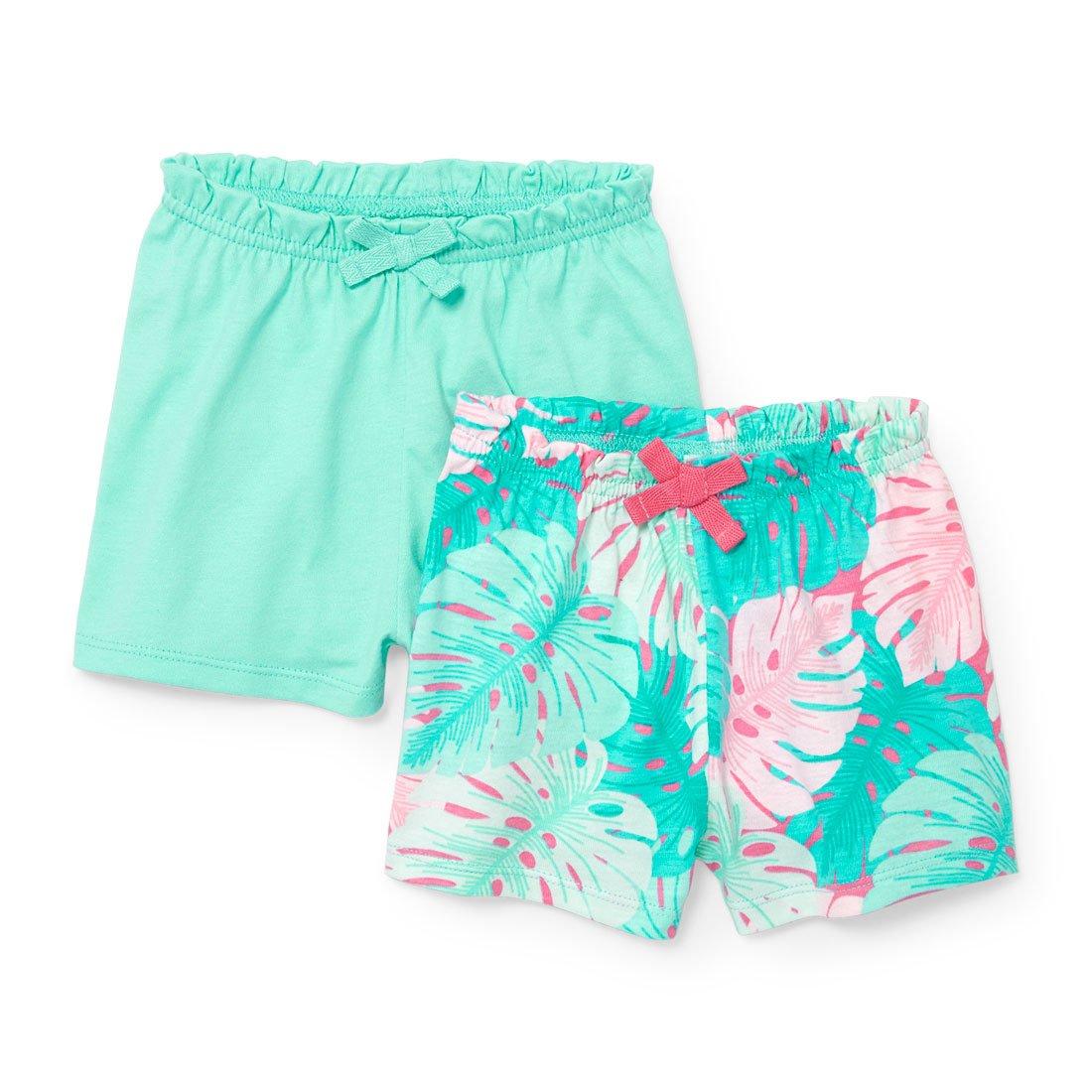 The Children's Place Baby Girls Shorts, Mellow Aqua 02329, 0-3MONTHS
