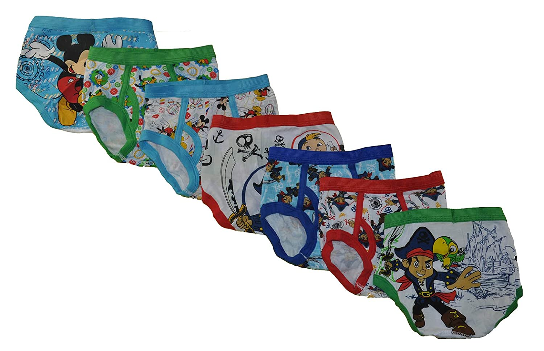 Disney Junior Little Boys 7 Pack Underwear Briefs