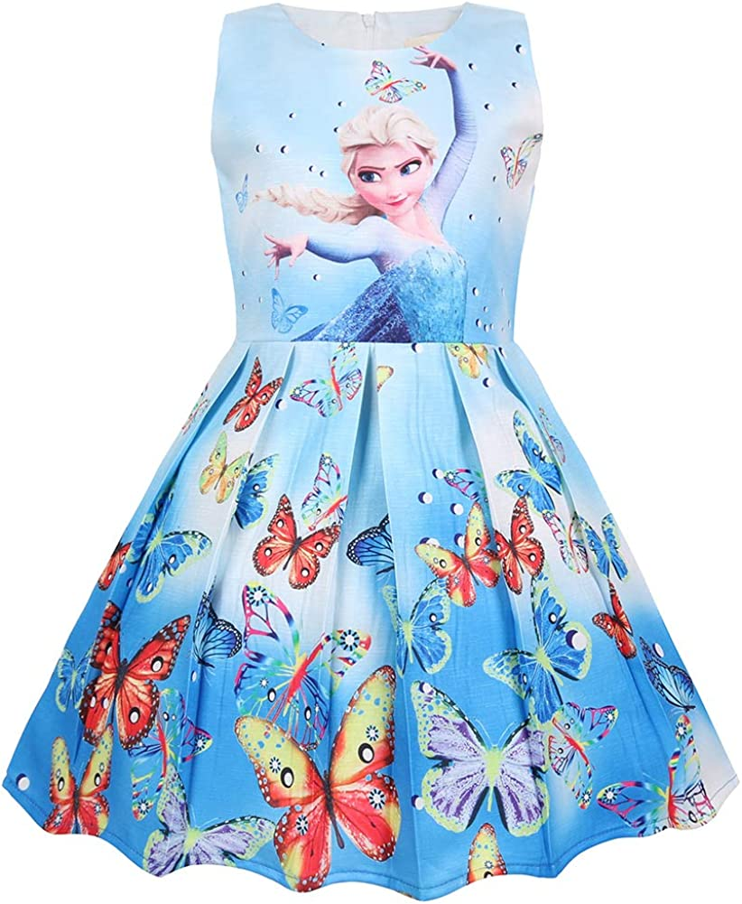 WNQY Princess Costume Party Dress Little Girls Cosplay Dress up