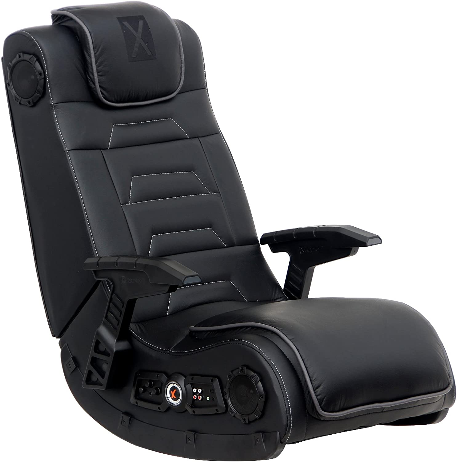 X Rocker Gaming Chair, Durable Wood and metal frame covered