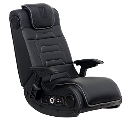 Wondrous X Rocker Pro Series H3 Black Leather Vibrating Floor Video Gaming Chair With Headrest For Adult Teen And Kid Gamers 4 1 High Tech Audio And Evergreenethics Interior Chair Design Evergreenethicsorg