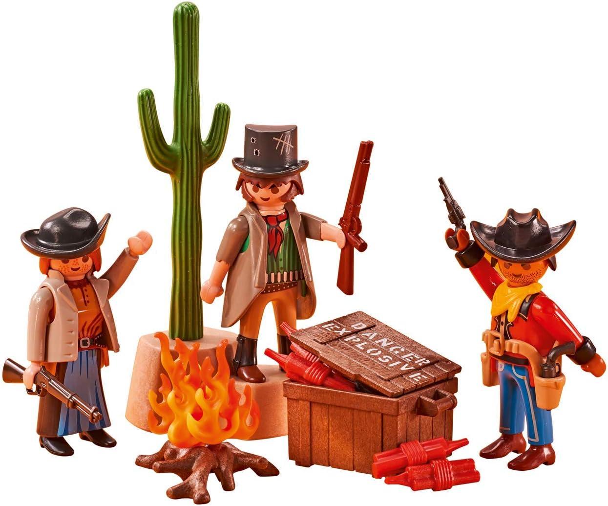 Emballage Plastique La Bande de Cowboys Hors-la-Loi Pas de bo/îte Carton Playmobil 6546- Western