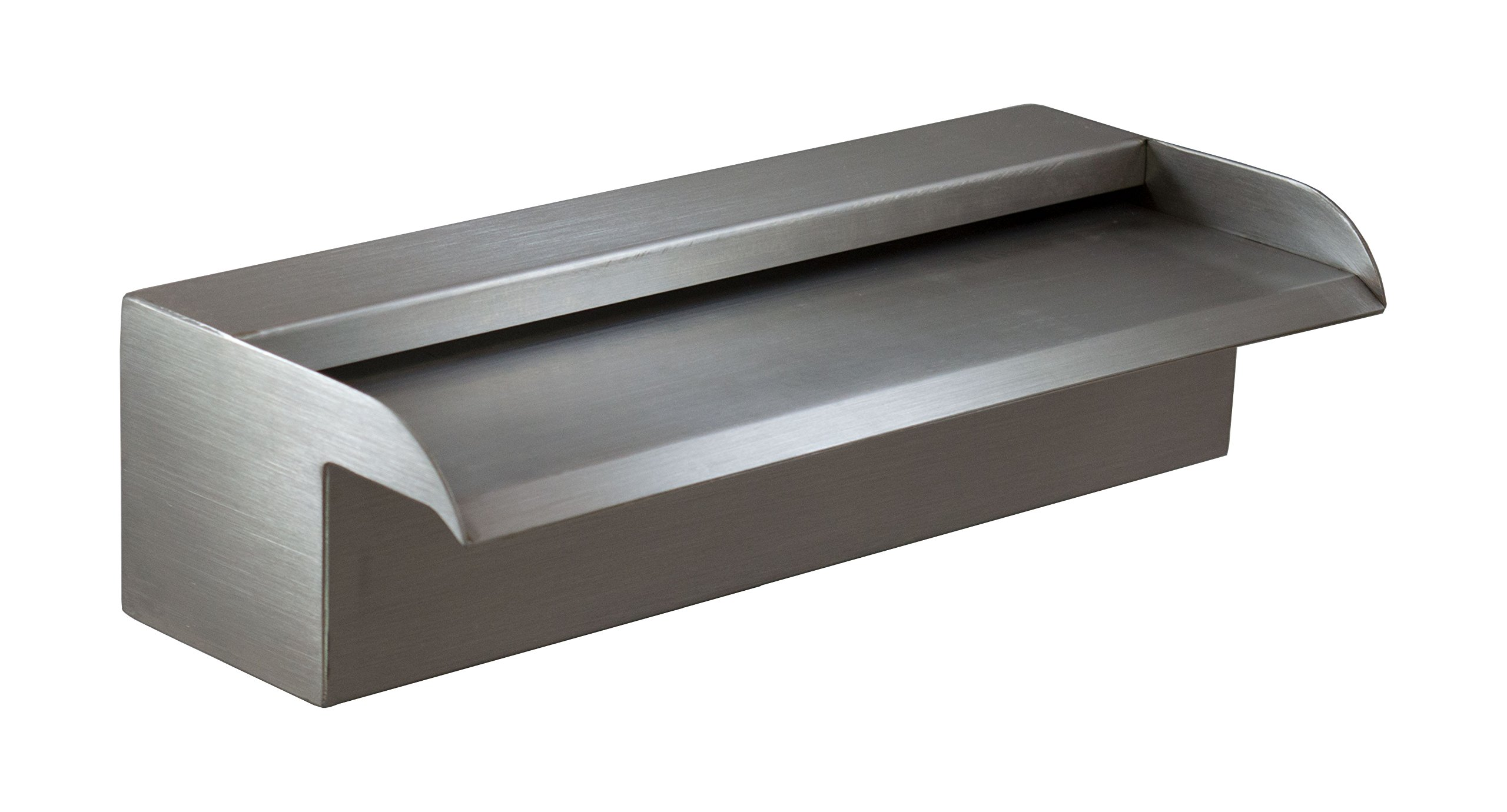 Nakano 12'' Waterfall Spillway for Fountains, Pools, Ponds - 316 Stainless (Recommended)