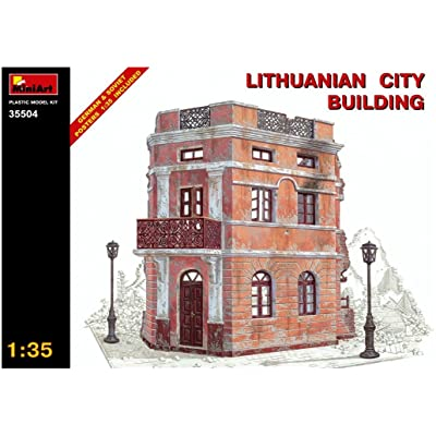 MiniArt 1:35 Scale Lithuanian City Building Plastic Model Kit: Toys & Games