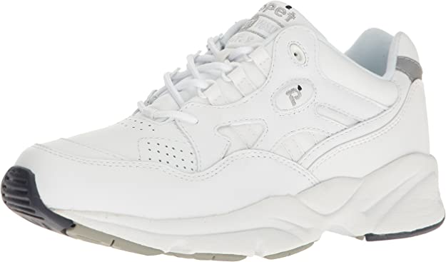 Propet Men Stability Walker Sneaker, White, 7 D US