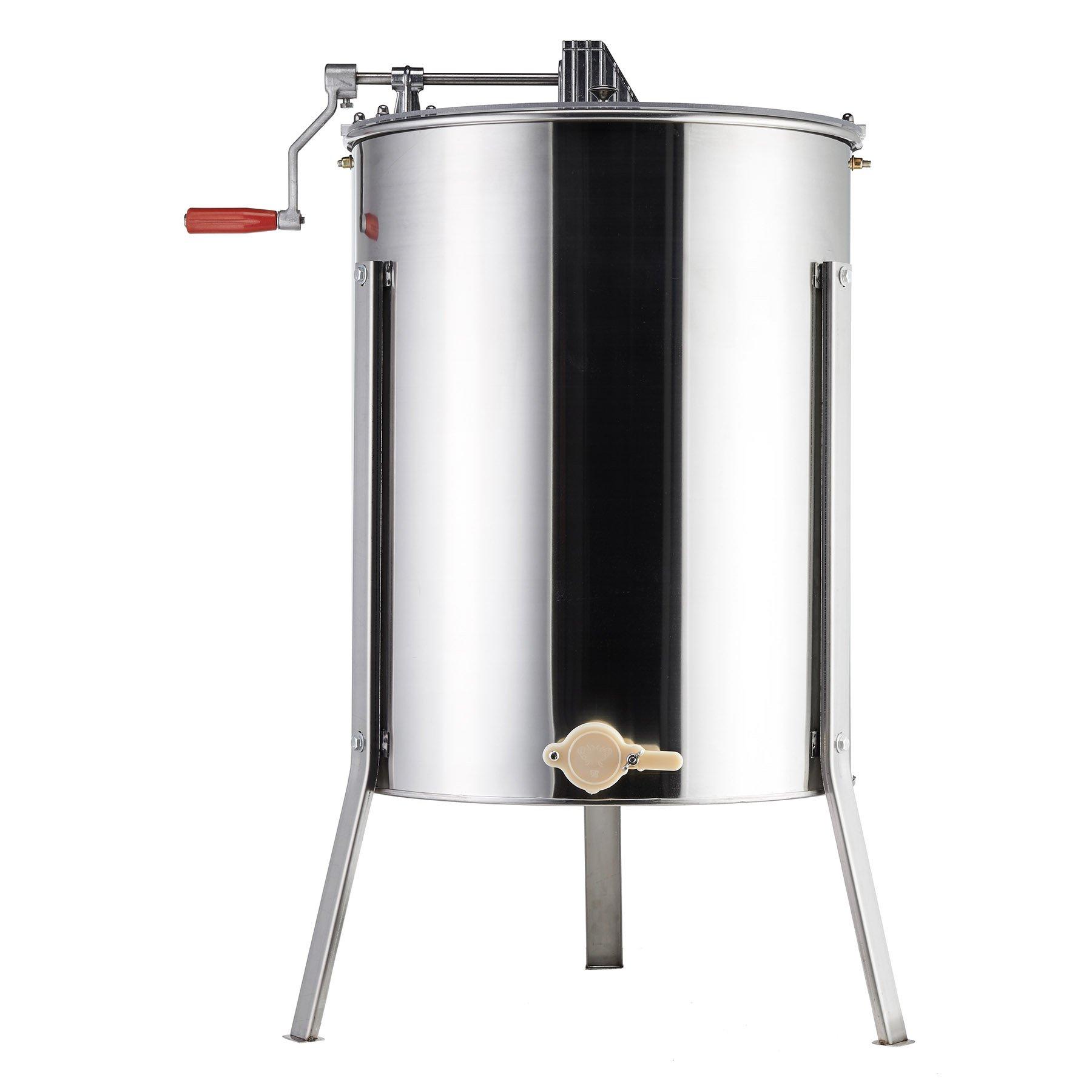 Tek Motion 4-Frame Large Stainless Steel Honey Extractor SS Beekeeping Equipment