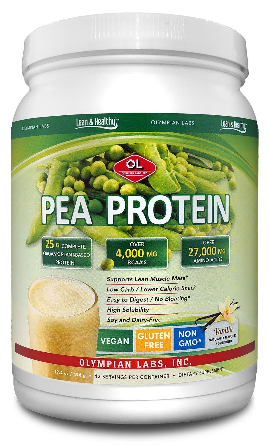 Olympian Labs Vanilla Pea Protein, 494 Grams, 13 Servings