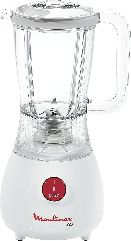 Moulinex Batidora de Vaso LM2201, 350 W, Plástico, Blanco