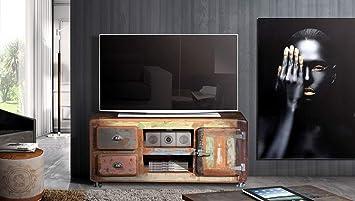 Mueble TV Salon Vintage Rustico Acabado a Mano.135cm x ...