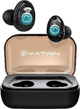 Auriculares Bluetooth 5.0 Auriculares inalámbricos 3000mAh cascos bluetooth inalambricos Estéreo Auricular Mini Twins In-Ear Auriculares con Caja de Carga Y Micrófono Integrado para iPhone y Android: Amazon.es: Electrónica