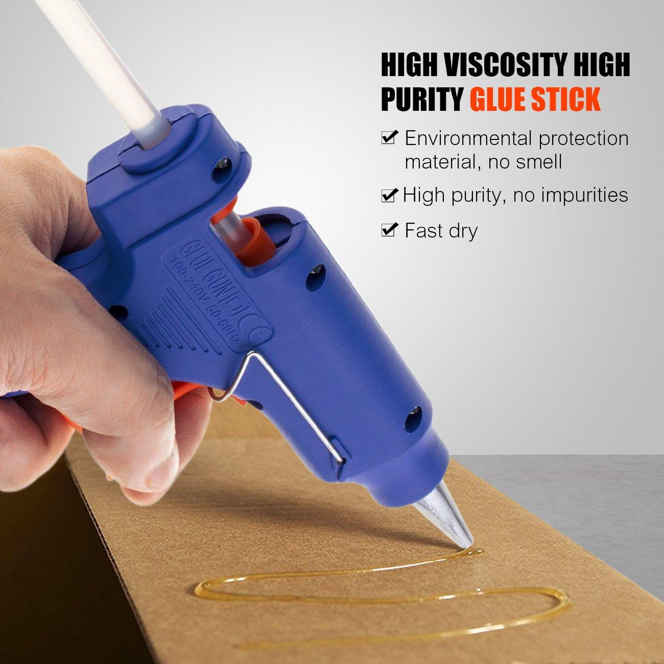 Tronisky Mini Pistola de silicona con 30 Piezas Barras de Pegamento Pistola de Pegamento para DIY Pequeño Arte y Reparaciones Rápidas en el Hogar y la ...