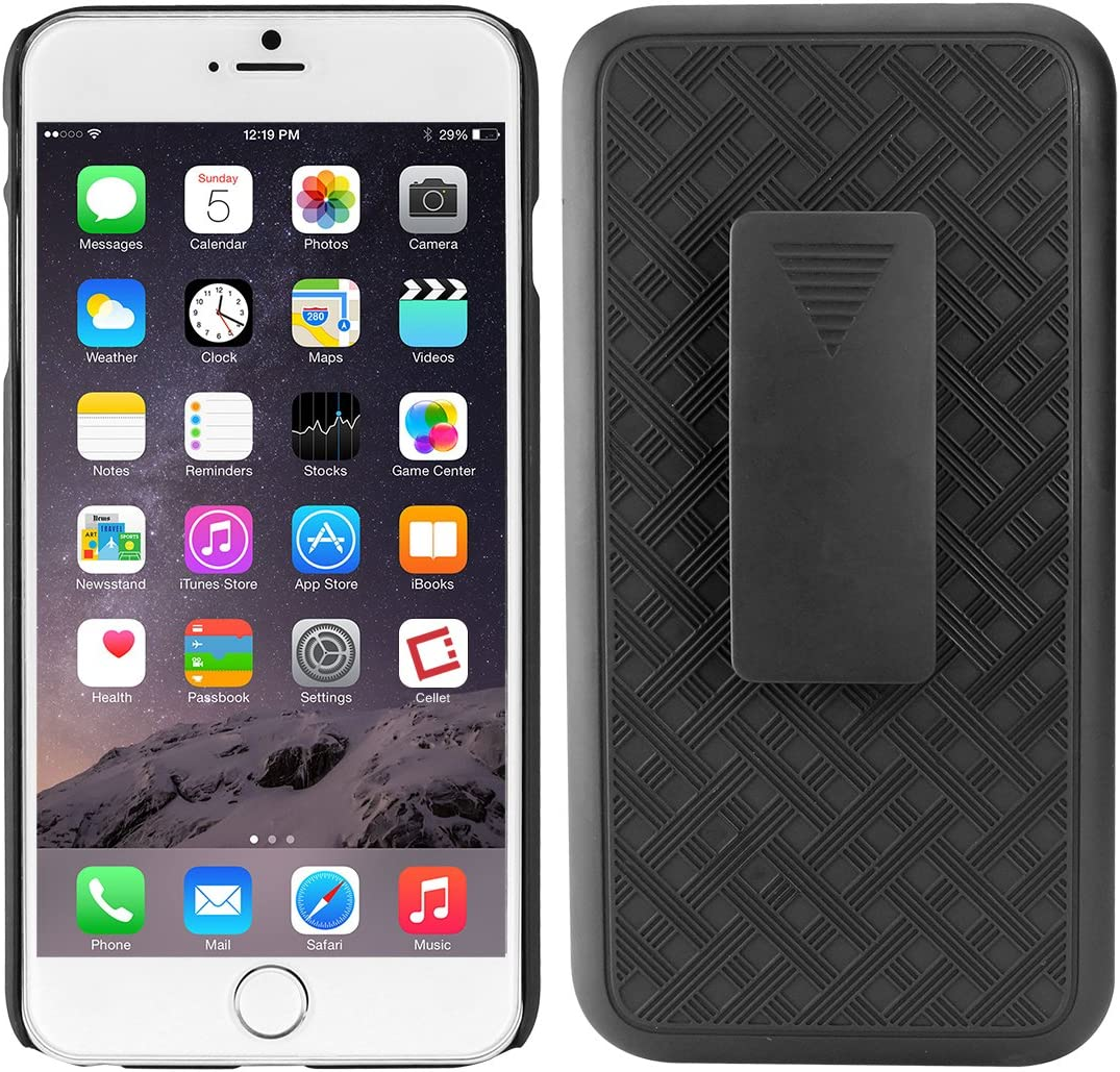 Cellet Shell + Holster + Kickstand Combo Case with Belt Clip for Apple iPhone 8 Plus, iPhone 7 Plus, iPhone 6 Plus and 6s Plus