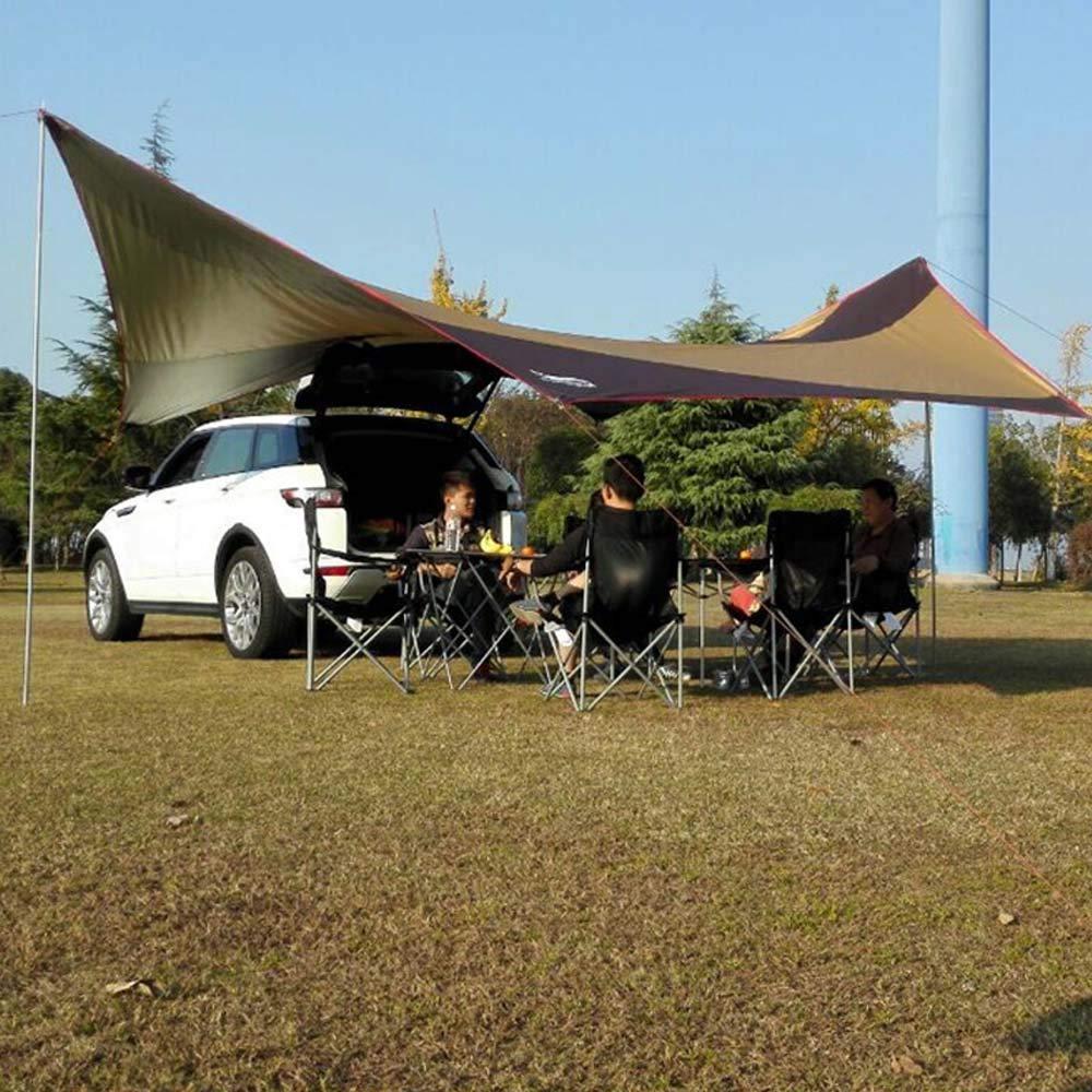 CFPPX Wasserdichtes Vorzelt Vordach Tragbares Auto SUV Heckzelt Klappzelt Anh/änger Markise mit 2St Sands/äcke f/ür Camping 4 Personen