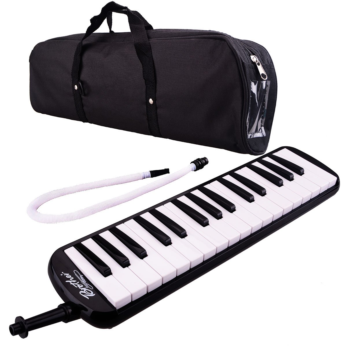 32 Piano Keys Melodica Musical Instrument for Education Teaching and Playing (Black)