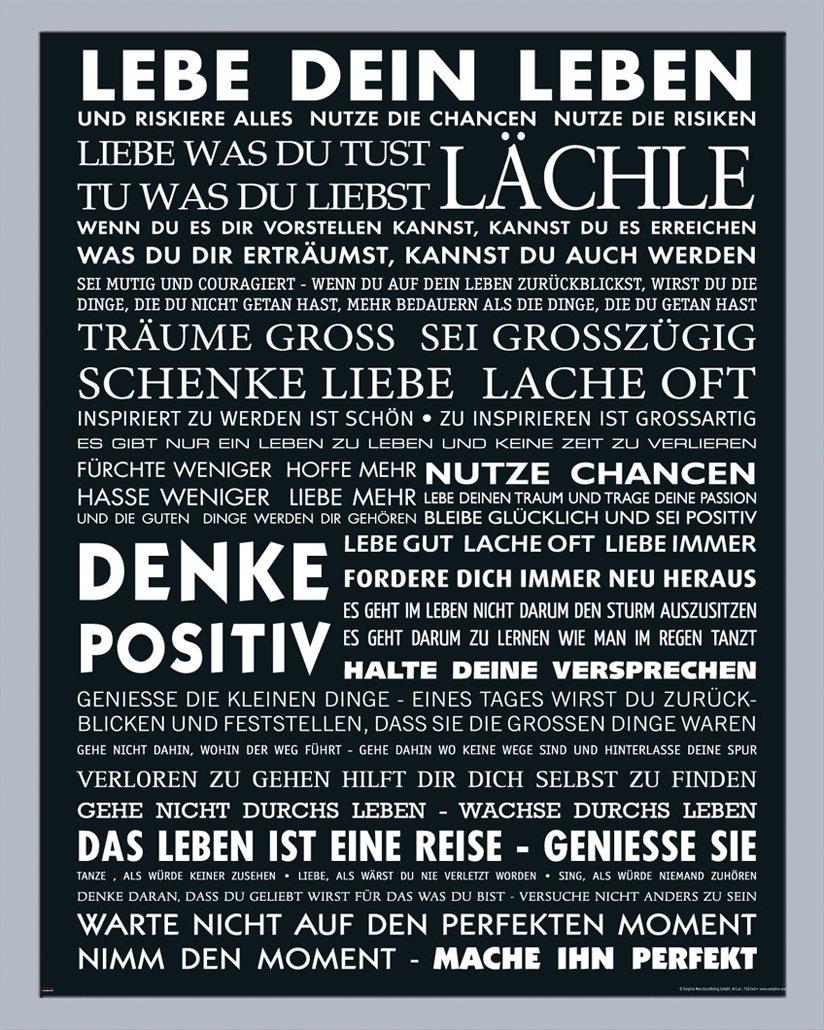 Motivational - Lebe Dein Leben Zitate Sprüche Motivations Poster ...