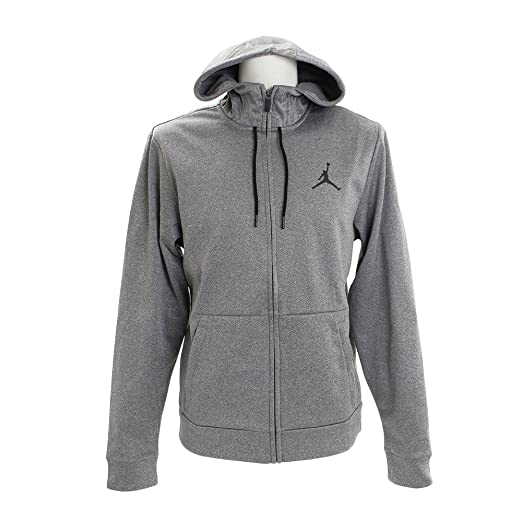 NIKE Mens Jordan Therma Alpha 23 Full Zip Hoodie Carbon Heather Black  872875-091 691dbfce9f