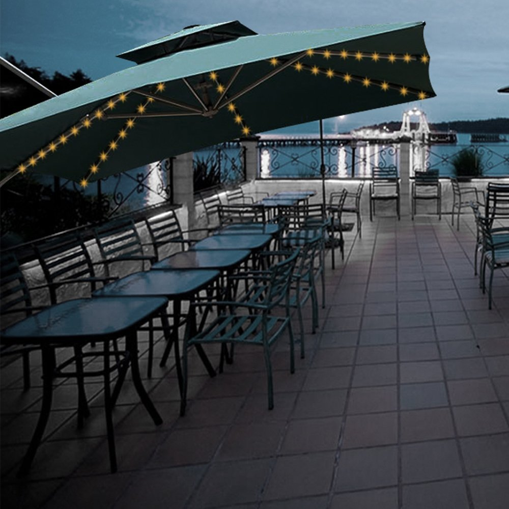 Aquelo Patio Umbrella Lights Warm White,Battery Operated String Light Led for Garden Umbrellas, Camping Tents or Outdoor Using by Aquelo (Image #4)