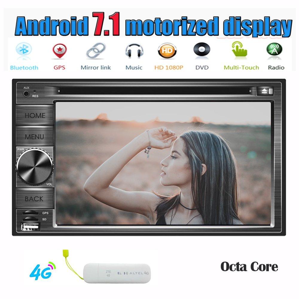 4Gドングルを含めます! Eincar Androidのカーステレオ6.2inch容量性タッチスクリーンクアッドコアGPSナビゲーションBluetoothカーGPSステレオ6.0MarshmallowシステムダッシュダブルDIN AutoradioサポートCD DVD 1080Pビデオプレーヤー無線LANリモートコントロールで B0778DRXTL