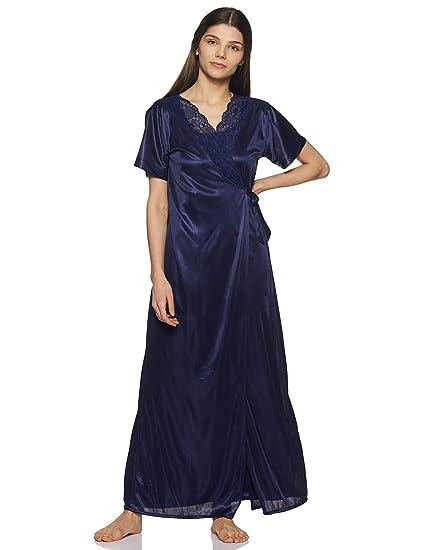 054bfa8e0 Clovia Women's Nightdress (NSM236G08O_Blue_Free Size): Amazon.in ...