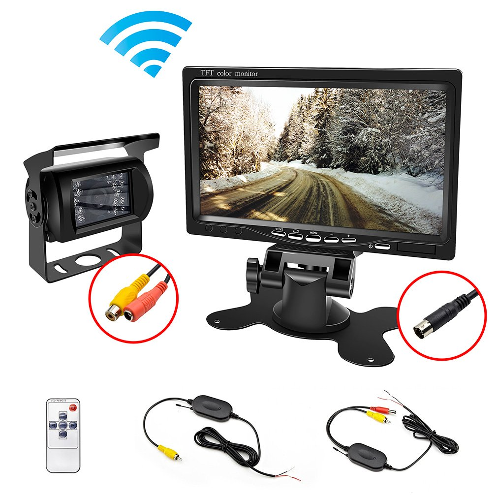 Amazon.com: wireless backup Camera Waterproof and Car Monitor / 7 ...