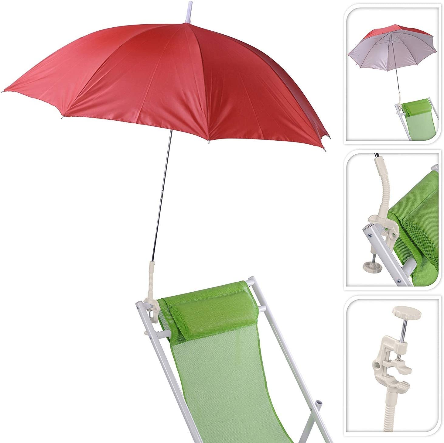 Buggy Schirm f/ür liegen Meinposten Sonnenschirm f/ür Kinderwagen /Ø 100 cm UV Schutz 50 Rot