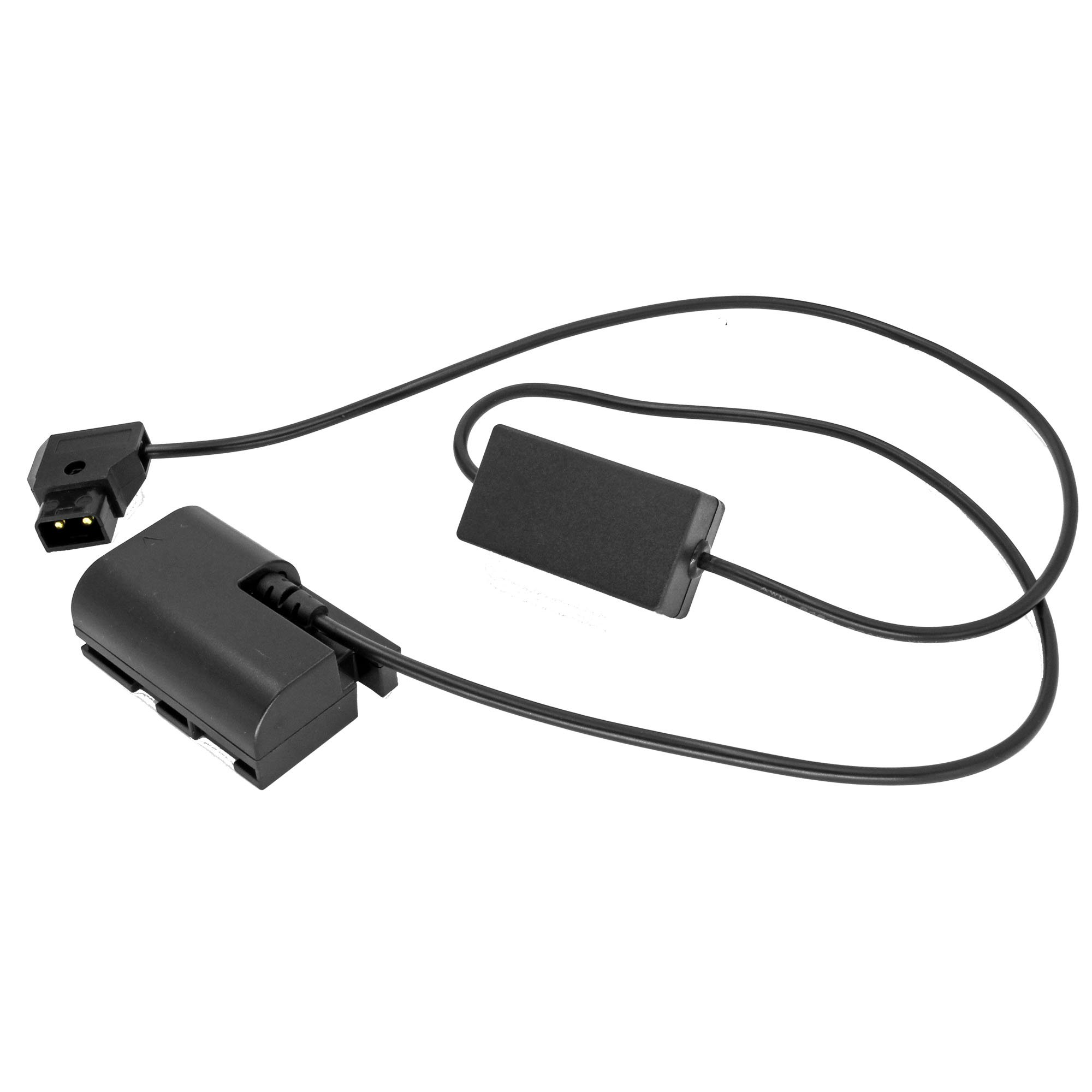 GyroVu High Power (4.5 Amps) D-Tap to Canon LP-E6 Dummy Battery 30' Straight Intelligent Adapter Cable with Reverse Polarity protection (V2)
