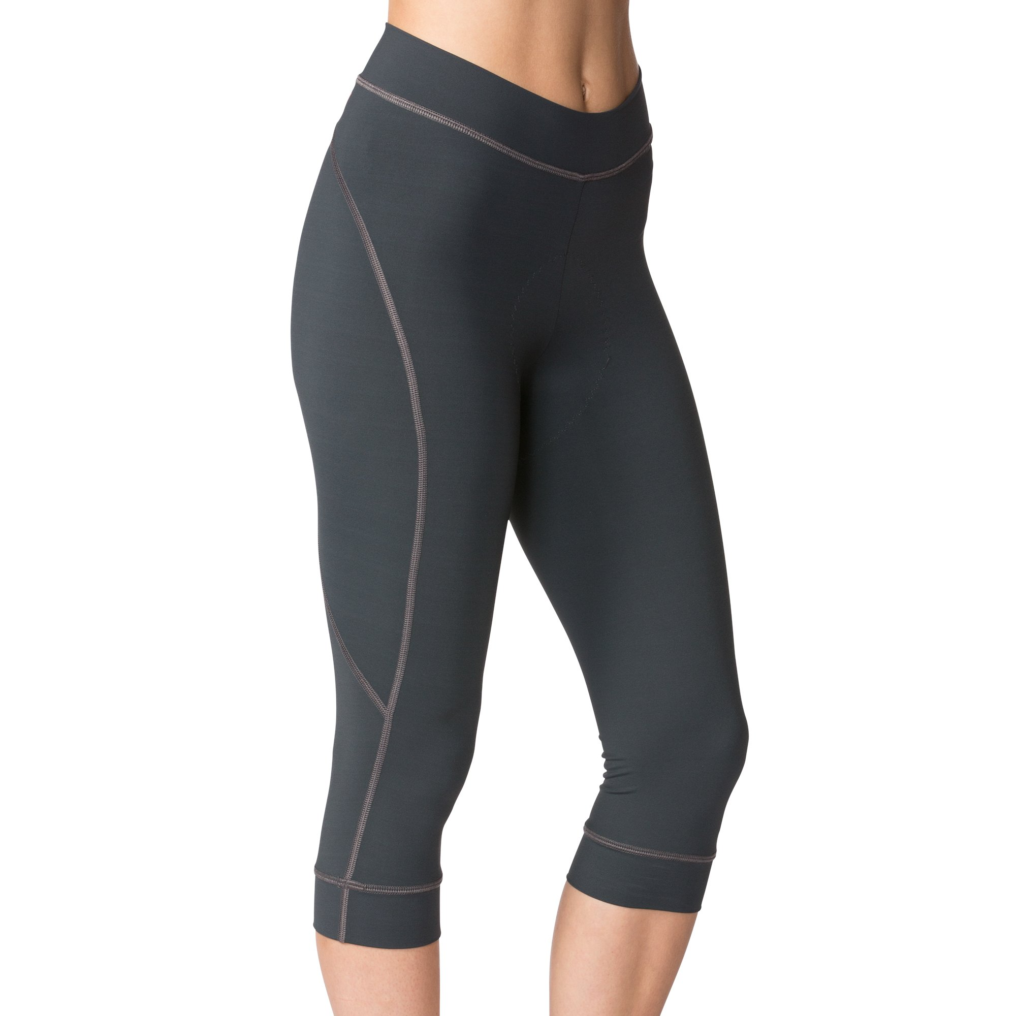 Terry Highly Rated Breakaway Performance Cycling Knickers for Women - Improved with More Padded Fleet Chamois - Charcoal - XX Large
