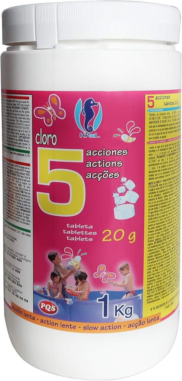PQS Cloro en Pastillas 5 Acciones Tabletas 20gr. Bote 1 Kg.