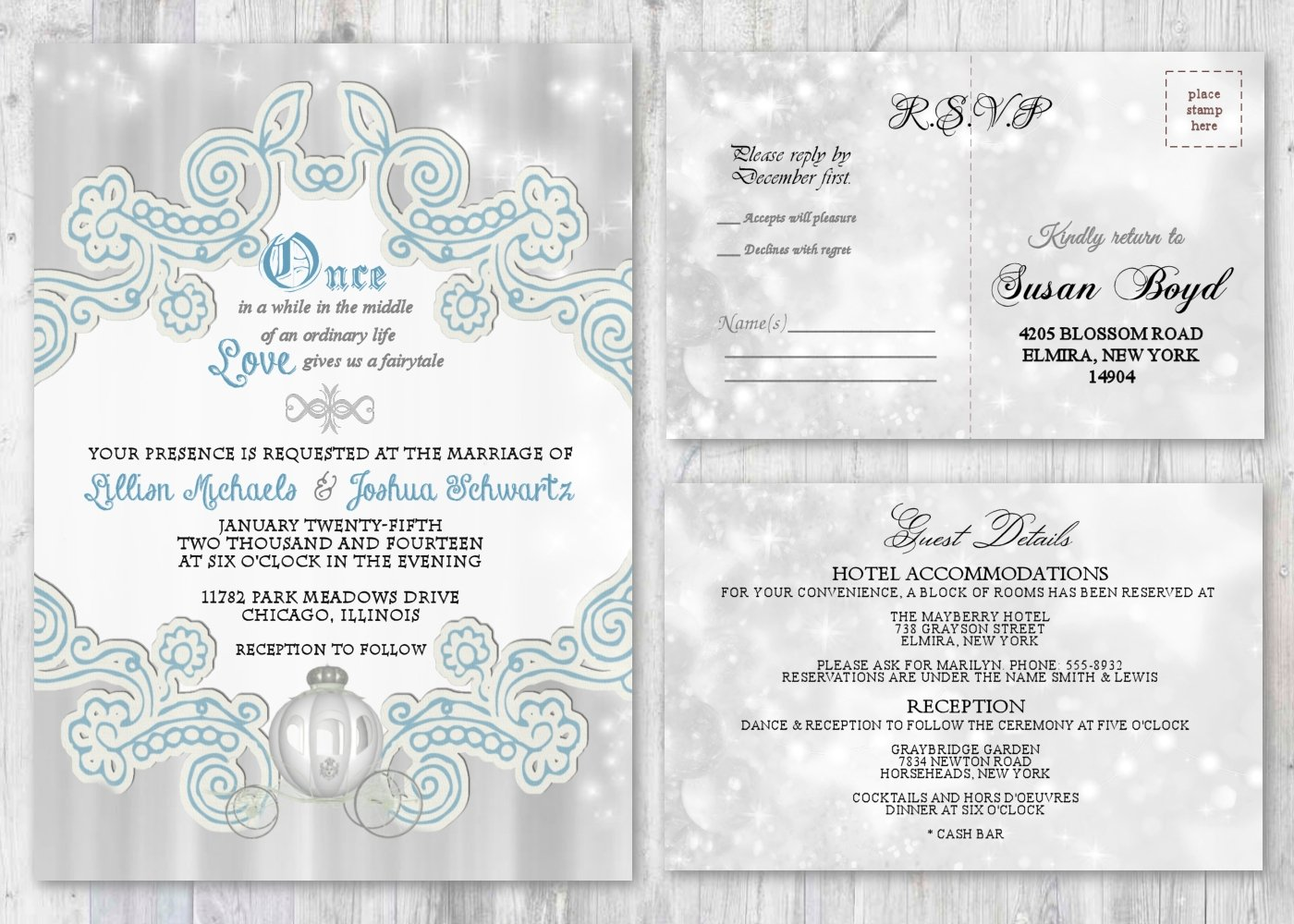 Amazon.com: Fairytale Wedding Invitations and Matching Cards ...