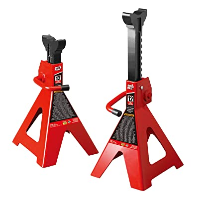 BIG RED T41202 Torin Steel Jack Stands: 12 Ton (24,000 lb) Capacity, 1 Pair: Automotive