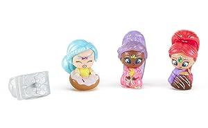 Fisher-Price Nickelodeon Shimmer & Shine, Teenie Genies, Magic Carpet Ring Playset Includes Aleela, Shimmer, Aija