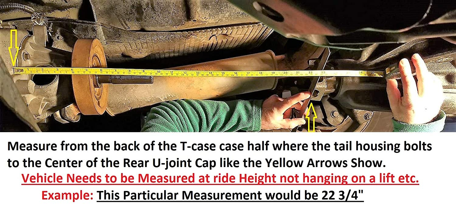 Crown Adams Driveshaft CUSTOM MADE Driveshaft with Rough Trail 24.5, Extreme Duty Solid U-Joints Slip Yoke Eliminator Kit SYE Package for Jeep Wrangler TJ LJ XJ Cherokee 231J T-cases Only