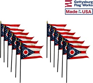 product image for 4x6 E-Gloss Ohio Stick Flag - Flag Only - Qty 12