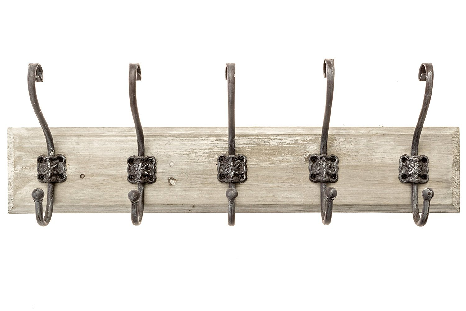Avignon Rustic Hook Rail Coat or Towel Rack 24 inches Wide and 4.5 inches high