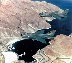 Home Comforts 4450th Tactical GroupA-7Ds Flying Over Hoover Dam Identified Aircraft are 69-6241 (Marked as Grou Vivid Imagery Laminated Poster Print 24 x 36