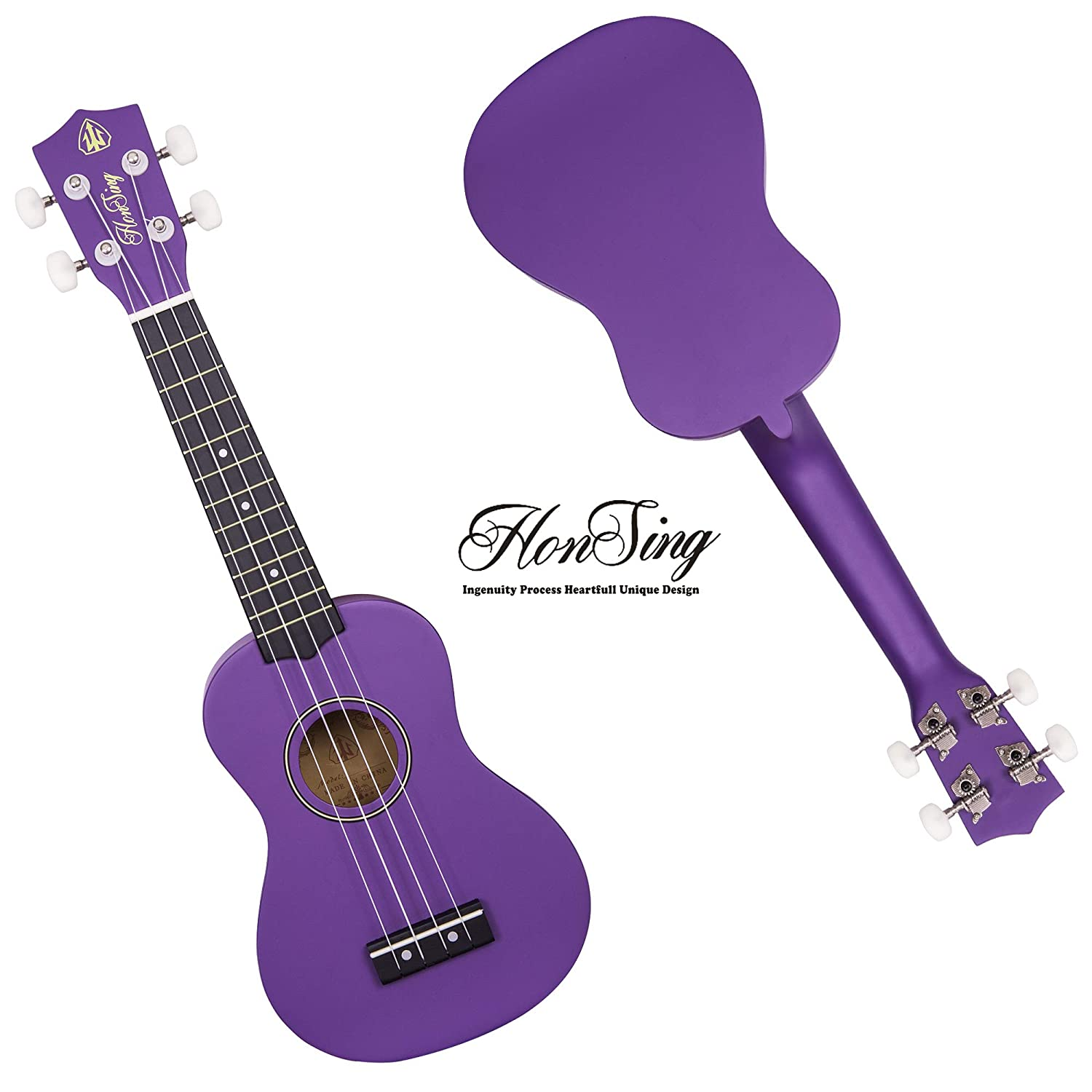 Honsing Kids Ukulele,Soprano Ukulele Beginner,Hawaii kids Guitar Uke Basswood 21 inches with Gig Bag Blue Beach Color matte finish