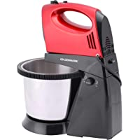Olsenmark Stand Mixer - 300W Powerful Motor - 5 Speed Control - Stainless Steel Bowl - Chromed Beater - Dough Hook - Whipping - Mixing