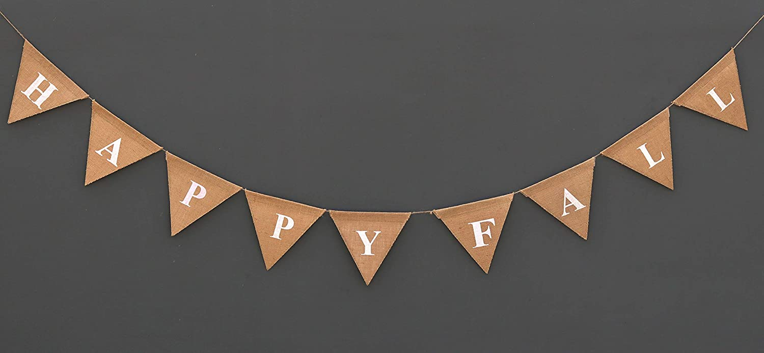 HAPPY FALL Burlap Banner - Thanks Giving Decoration banner - Party Picnic Decoration - Autumn Garland - Happy Fall Sign - Home Décor - Rustic Chic Fall Décor