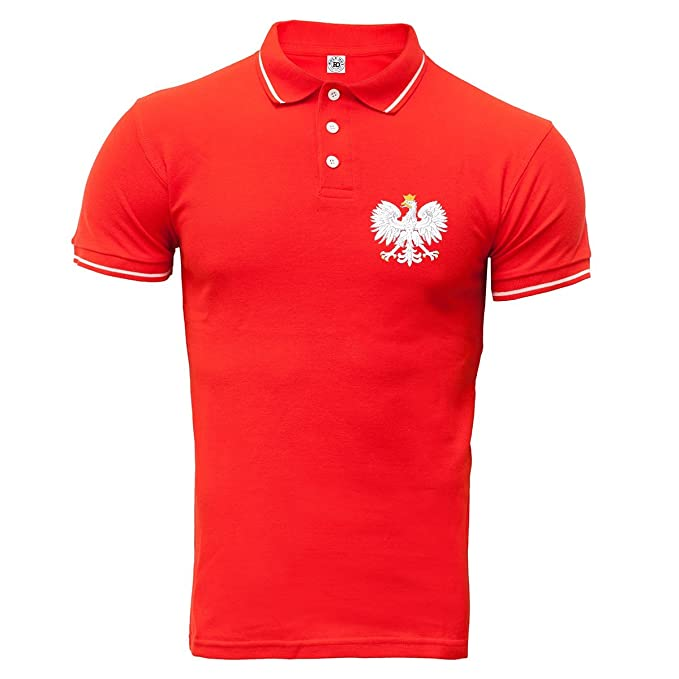 Rule Out Polo Camiseta Ropa para Fans Pulido Fútbol Equipo Polska. Polonia Supporter. Rojo: Amazon.es: Ropa y accesorios