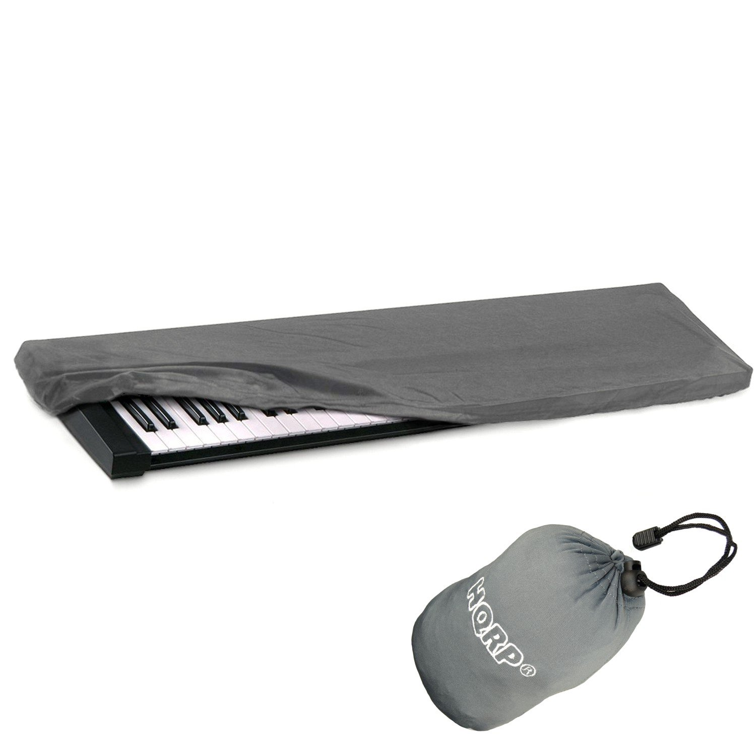 HQRP Elastic Dust Cover w/ Bag (Black) for Williams Legato / Allegro 2 Electronic Keyboard Digital Piano + HQRP Coaster 887774709011516